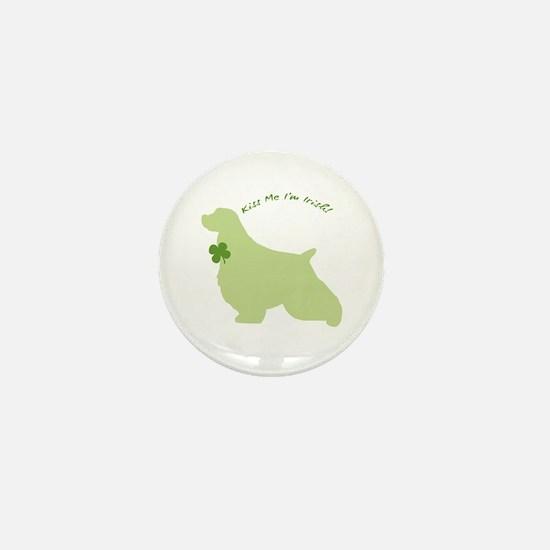 Springer Spaniel... Kiss Me I'm Irish! Mini Button
