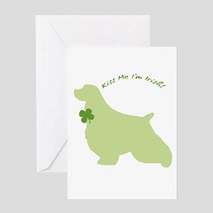 Springer Spaniel... Kiss Me I'm Irish! Greeting Ca