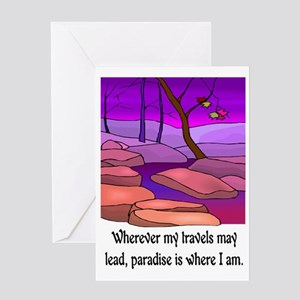 PARADISE IS WHERE I AM Greeting Card