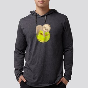 Cute Sloth Softball Long Sleeve T-Shirt