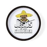Jesus is my gardener Wall Clock