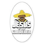 Jesus is my gardener Oval Sticker