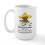 Jesus is my gardener Large Mug