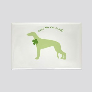 Greyhound... Kiss Me I'm Irish! Rectangle Magnet