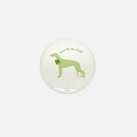 Greyhound... Kiss Me I'm Irish! Mini Button