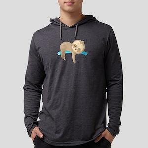 Cute Sloth Pool Noodle Long Sleeve T-Shirt