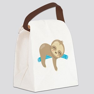 Cute Sloth Pool Noodle Canvas Lunch Bag
