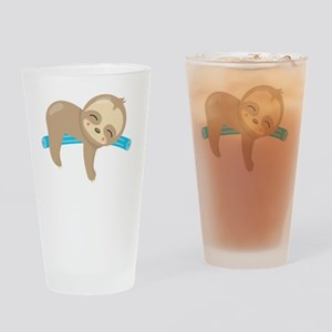 Cute Sloth Pool Noodle Drinking Glass