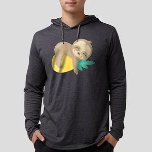 Cute Sloth Pineapple Long Sleeve T-Shirt