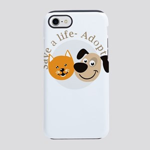 save a life - adopt iPhone 8/7 Tough Case