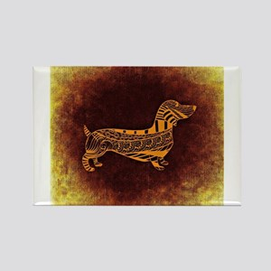 Abstract Dachshund Magnets