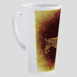 Abstract Dachshund 17 oz Latte Mug