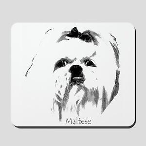 Maltese Face Mousepad