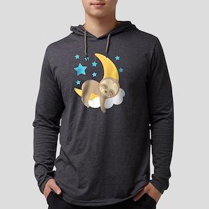 Cute Sloth Moon Long Sleeve T-Shirt