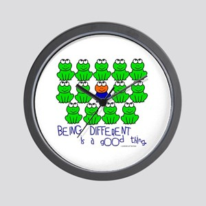 Being Different 1 (FROGS) Wall Clock