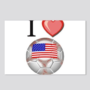 I Love Usa Football Postcards (Package of 8)