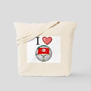I Love Tunisia Football Tote Bag