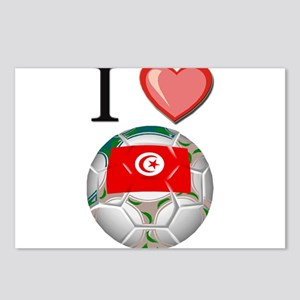 I Love Tunisia Football Postcards (Package of 8)