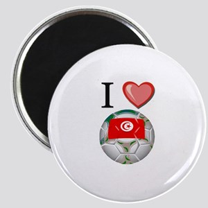 I Love Tunisia Football Magnet