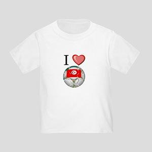I Love Tunisia Football Toddler T-Shirt