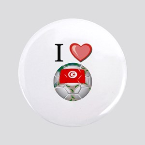 "I Love Tunisia Football 3.5"" Button"