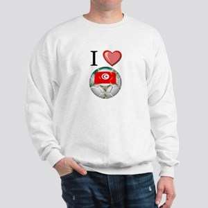 I Love Tunisia Football Sweatshirt