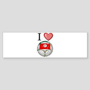 I Love Tunisia Football Bumper Sticker