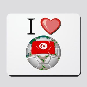 I Love Tunisia Football Mousepad