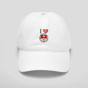 I Love Tunisia Football Cap