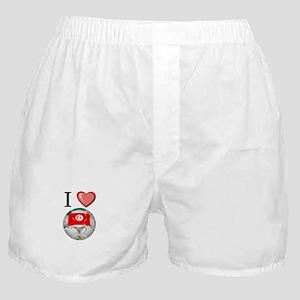 I Love Tunisia Football Boxer Shorts
