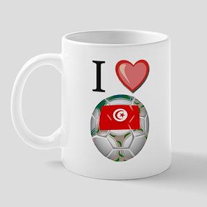 I Love Tunisia Football Mug