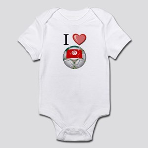I Love Tunisia Football Infant Bodysuit