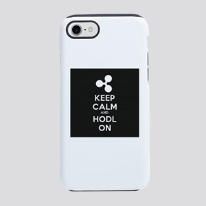 keep calm and hodl ripple iPhone 8/7 Tough Case