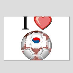 I Love South-Korea Football Postcards (Package of
