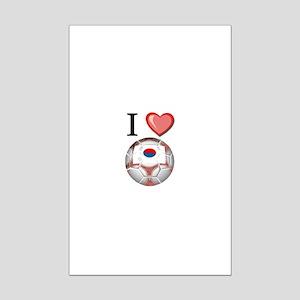 I Love South-Korea Football Mini Poster Print