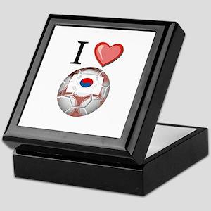 I Love South-Korea Football Keepsake Box
