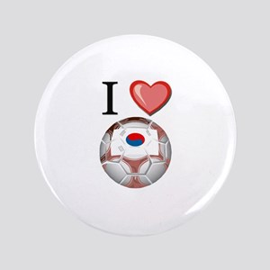 "I Love South-Korea Football 3.5"" Button"