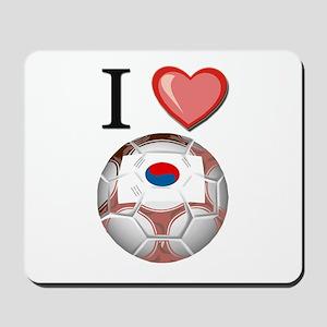 I Love South-Korea Football Mousepad