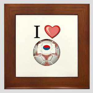 I Love South-Korea Football Framed Tile