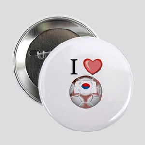 "I Love South-Korea Football 2.25"" Button"