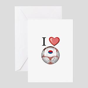 I Love South-Korea Football Greeting Card