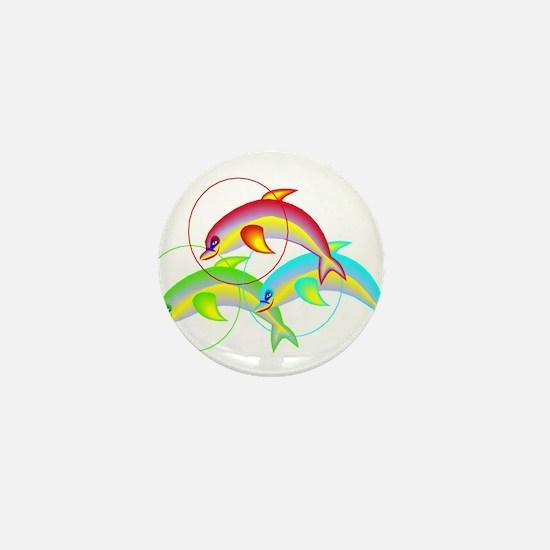 DOLPHIN TRIO Mini Button