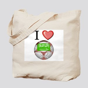 I Love Saudi-Arabia Football Tote Bag