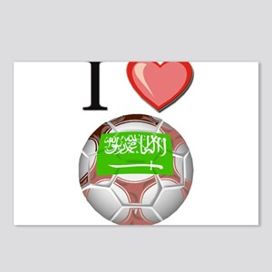 I Love Saudi-Arabia Football Postcards (Package of