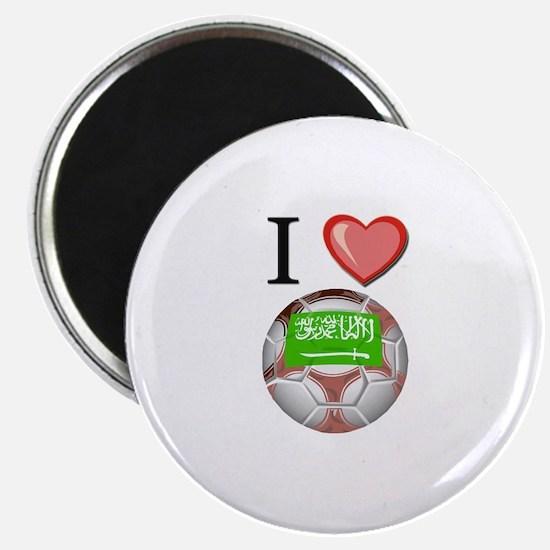 I Love Saudi-Arabia Football Magnet