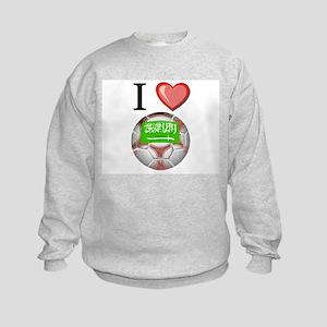 I Love Saudi-Arabia Football Kids Sweatshirt