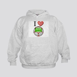 I Love Saudi-Arabia Football Kids Hoodie