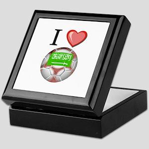 I Love Saudi-Arabia Football Keepsake Box