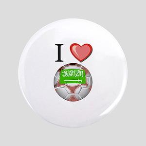 "I Love Saudi-Arabia Football 3.5"" Button"