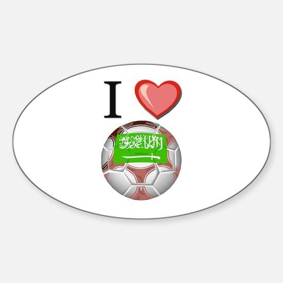 I Love Saudi-Arabia Football Oval Decal